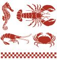 Seafood sea creatures vector | Price: 1 Credit (USD $1)
