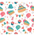 seamless birthday pattern for print design vector image vector image