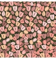 Seamless pattern with retro tulips vector image vector image