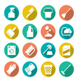 Set flat icons of cleaning vector image vector image