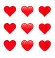 set of different style hearts vector image vector image