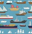 ship cruiser boat sea vessel travel industry vector image vector image