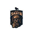 skull santa claus vector image vector image