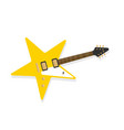 star shaped electric guitar rockstar symbol vector image vector image
