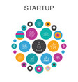 startup infographic circle concept smart ui vector image