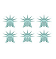 statue of liberty emoji emotion set aggressive vector image vector image