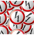 sticker-danger-symbols vector image vector image