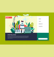 stop pollution ecology web site template plant vector image