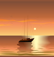 summer travel yacht in the sea at sunset summer vector image vector image