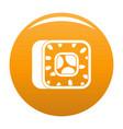 sushi icon orange vector image vector image