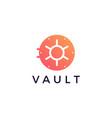 vault locker logo icon vector image