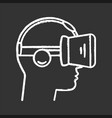 vr player side view chalk icon vector image vector image