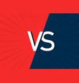 vs background poster versus enemy logo vector image