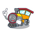 with phone train character cartoon style vector image