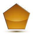 Wonderful template with golden copy space shield vector image vector image