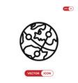 worldwide icon vector image vector image