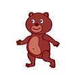 Hand-drawn cartoon wild Bear vector image