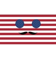Icon in colors of the American flag vector image