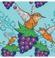 humming bird pattern vector image