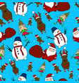new year s hand drawing festive seamless pattern vector image