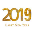 2019 new year poster vector image