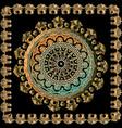 3d baroque mandala pattern floral antique square vector image vector image