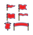 assorted blank flag bold outline set vector image vector image
