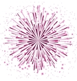 background with anniversary bursting vector image vector image