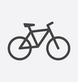 bike icon on white background bicycle in flat vector image vector image