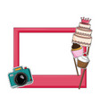 birthday photo booth prop vector image vector image