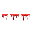 blood drip 3d set drop blood isloated white vector image vector image