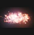 bright bokeh effect festive magic luminous vector image