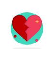 broken love heart wedding abstract circle vector image vector image