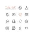 Business Finance Symbols - thick line design vector image vector image