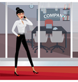 Business woman walking around the office vector image