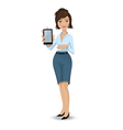 Businesswoman with a tablet touch pad 380 vector image vector image