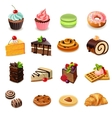 Cakes Icons Set vector image vector image