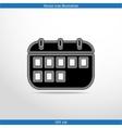 calendar organizer web flat icon vector image