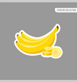 cartoon fresh banana isolated sticker vector image