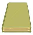 cartoon - green hardcover book vector image vector image