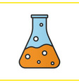 chemical reaction color icon vector image