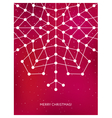 Christmas card with geometric snowflake New year vector image vector image