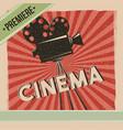 Cinema premiere movie retro poster vector image