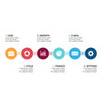 circle metaball timeline infographic cycle vector image