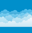 cloud background sky cartoon pattern abstract vector image