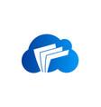 cloud data file technology logo vector image vector image