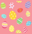 colorful easter egg pattern vector image
