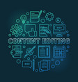 content editing round colorful outline vector image vector image