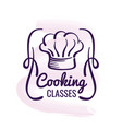 cooking logo design with watercolor decor vector image vector image