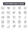 copywriting line icons for web and mobile design vector image vector image